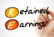 """This is the word """"retained earnings""""."""